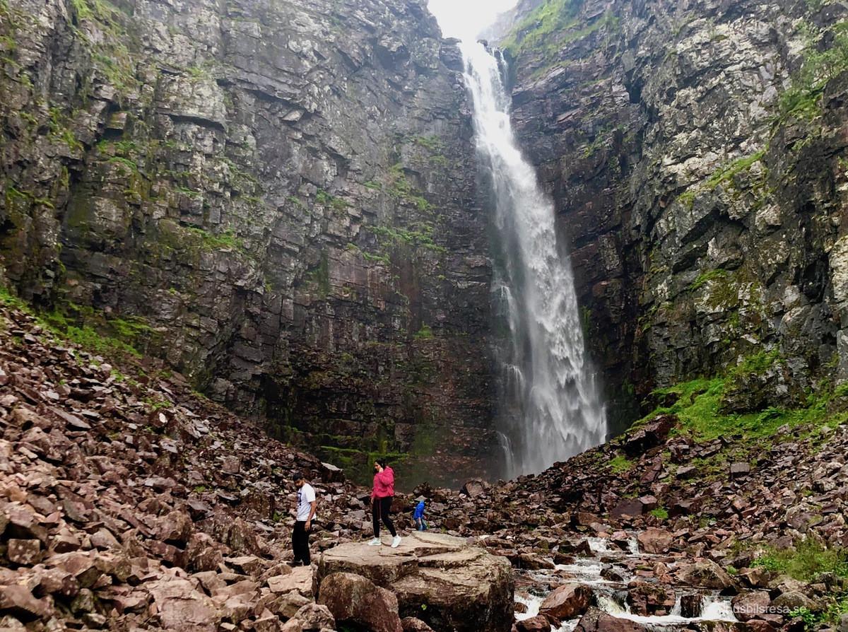 Njupeskärs vattenfall - Fulufjällets nationalpark